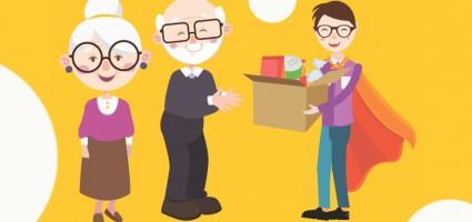 Помощь пожилым людям (видео)
